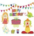 birthday girl vector image