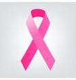breast cancer awareness pink ribbon women vector image