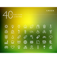 Green environment outline icons set vector image