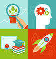 personal development concepts in flat style vector image