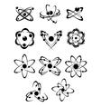 Atoms or molecules symbols vector image
