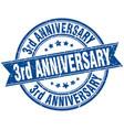 3rd anniversary round grunge ribbon stamp
