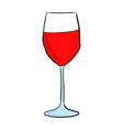 a glass with red wine vector image