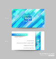 aqua blue business card membership card vip club vector image vector image