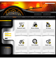 Automobile Service Website Template vector image vector image