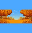 autumn forest landscape vector image vector image