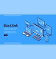 banner backlink chain hyperlinks vector image