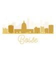 Boise City skyline golden silhouette vector image vector image