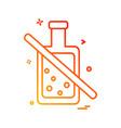 bottle icon design vector image vector image