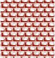 Brick wall texture vector image vector image