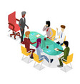 business meeting isometric 3d icon vector image