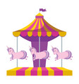carousel of amusement park vector image vector image
