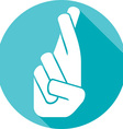 Crossed Fingers Icon vector image