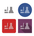dotted icon termal or nuclear power plant in vector image
