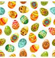 easter egg seamless pattern background vector image