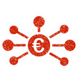 euro relations icon grunge watermark vector image vector image