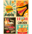 Fast Food posters collection vector image vector image