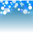 festive lights on a blue background vector image vector image