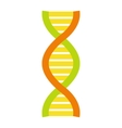 Flat DNA and molecule symbol vector image vector image