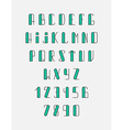 Font the monogram in thin lines Hipster set vector image