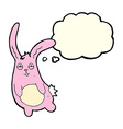 funny cartoon rabbit with thought bubble vector image vector image