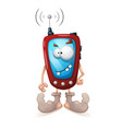 funny cute crazy smartphone characters vector image