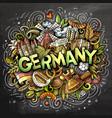 Germany hand drawn cartoon doodles