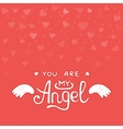Happy Valentines day card hearts light vector image