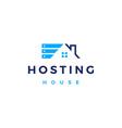 house home hosting server cloud data storage logo vector image vector image