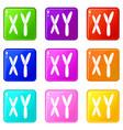 human chromosomes icons 9 set vector image vector image