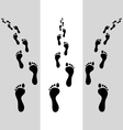 human footsteps vector image vector image