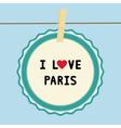 I lOVE PARIS2 vector image