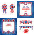 independence day holiday set vector image vector image