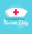 international nurse day text background greeting vector image