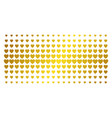 love heart golden halftone grid vector image