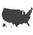 map of usa - hawaii vector image vector image