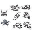 mayan symbols great artwork for tattoos vector image vector image