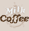 Milk and Coffee vector image vector image