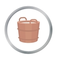 Milk bucket icon cartoon Single bio eco organic vector image vector image