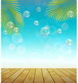 Natural background landscape of palm tree vector image vector image