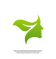 nature brain logo design concept brain mind with vector image vector image