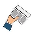 Newspaper info article vector image vector image