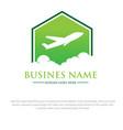 night travel logo designs vector image