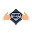 opening shirt brother vector image vector image