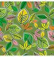 pattern of hand draw leafs vector image vector image