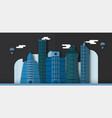 pop up design of urban buildings and future city vector image