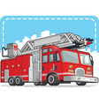 Red Fire Truck or Fire Engine vector image