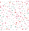Romantic pink and blue heart pattern vector image vector image