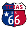 route 66 texas sign and flag vector image vector image
