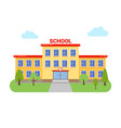 school university building elementary high vector image